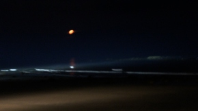 full moon rising, wells beach Maine, Sept. 2011