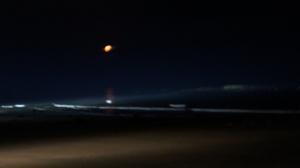 full moon rising, wells beach Maine, Sept. 2011